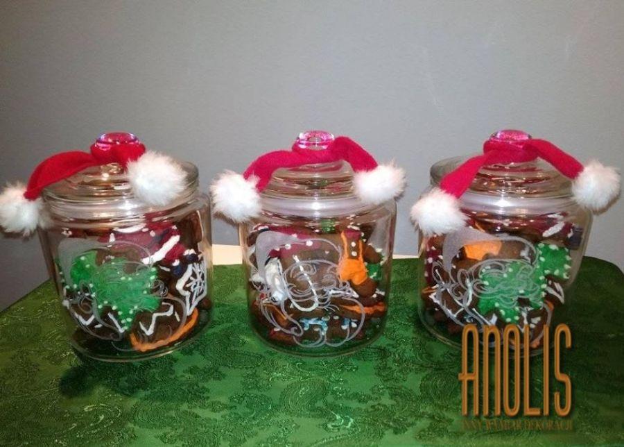 Grawerowany słoik na pierniki Mikołaj