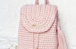 Plecak szydełkowy bawełniany na szydełku
