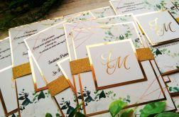 Zaproszenia jednokartkowe ślubne glamour 02