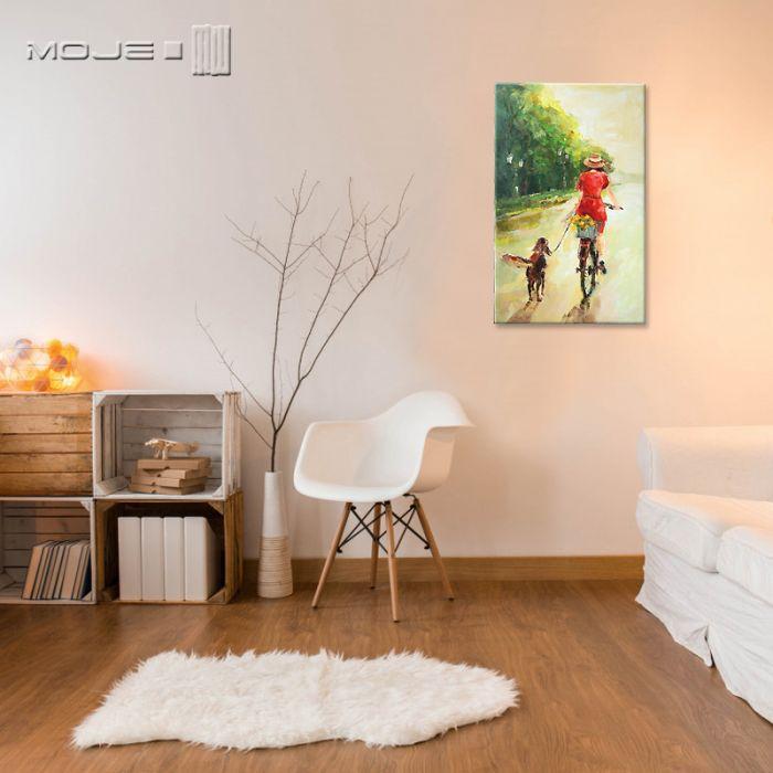 Letni spacer z przyjacielem - na ścianę