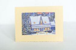 Kartka świąteczna - zimowy pejzażyk nr 31