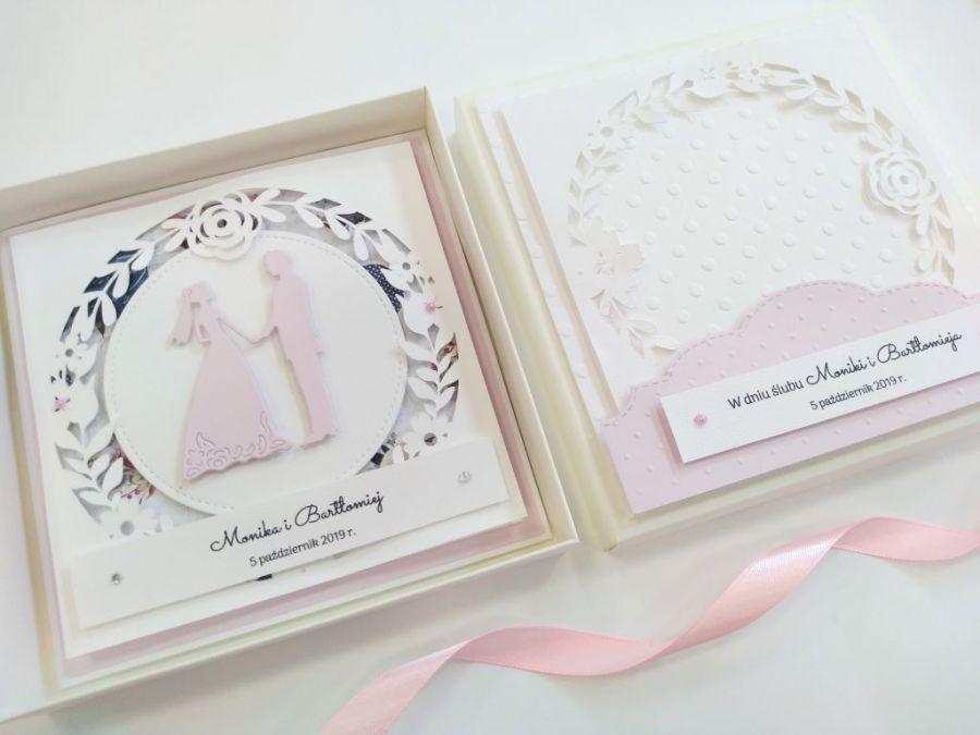 Kartka ślubna w pudełku - 02