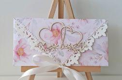 Kartka ślubna kopertowa dwa serca