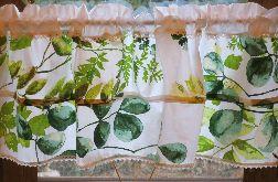 Zazdrostka/ lambrekin na okno EUKALIPTUS 146 cm x 43 cm