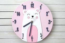 Zegar dla dziewczynki z misiem