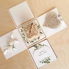 Kartka na ślub Exploding box ślubny #0006