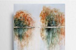 Jesienny pejzaż-akwarela