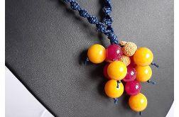 4480 naszyjnik boho naturalny kamienie