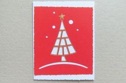 Kartka świąteczna-choinka nr 1