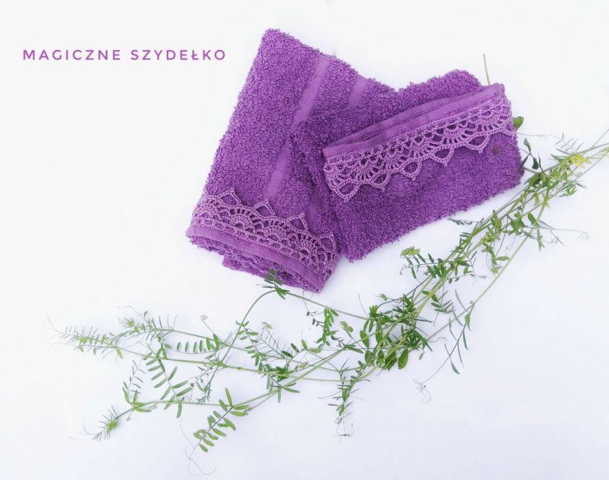 Ręcznik i myjka fiolet