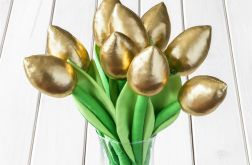 TULIPANY, złoty bawełniany bukiet