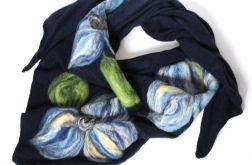 Handmade-chusta filcowana, wełną malowana 1