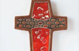 Krzyż ceramiczny czerwony