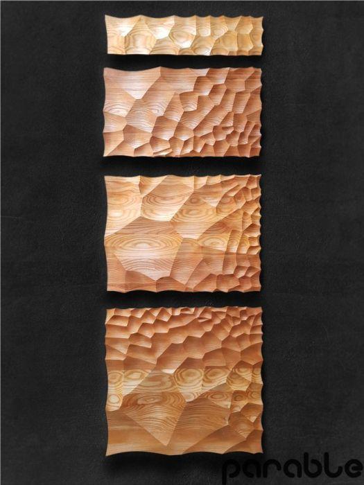 Obraz z drewna dołeczki