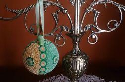 Bombka- w zielonych kolorach 7 cm. nr. 8