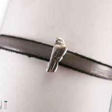 Bransoletki skórzane papużki nierozłączki