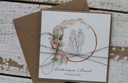 Kartka ślubna z kopertą - życzenia i personalizacja 1f