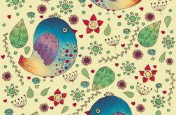 Ptaszki w kwiatach