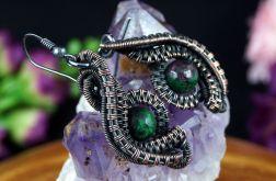 Rubin Miedziane kolczyki z rubinem w zoisycie