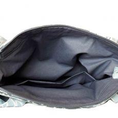 City Bag ~bawełniana ~ Monstera mint&grey