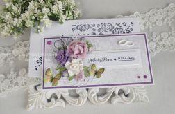 Ślubna kartka DL w pudełku z okienkiem 20