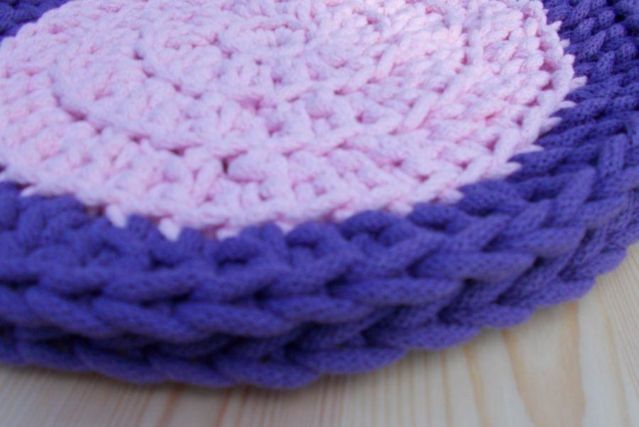 Podkładka 31 cm, różowo-lawendowa