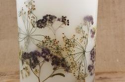 świece FLORA -z naturalnymi roślinami #9