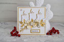 Kartka świąteczna z poisencją złota