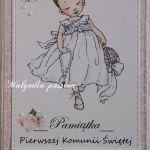 Kartka komunijna dla dziewczynki #