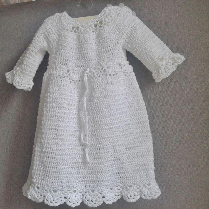 Biała sukienka z opaską bawełniana - prezent na chrzest sukienka z opaską