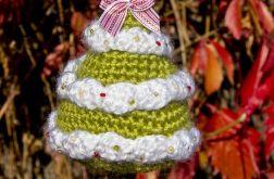 Szydełkowa choinka -ozdoba świąteczna