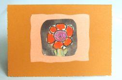 Kartka uniwersalna  z kwiatkiem  66