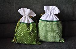 Dwa worki na bieliznę w kolorze zieleni