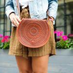 Skórzana ręcznie robiona torebka Ariane