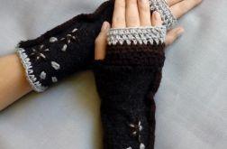rękawiczki mitenki ręcznie szyte