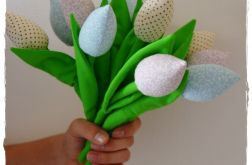FOXYNOOK Tulipany - pastelowy bukiet - 12 szt