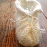 Buciki dla niemowlaka białe
