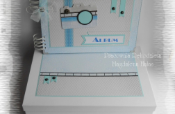 Album szaro niebieski A4 w pudełku