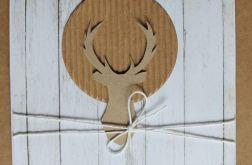 Kartka świąteczna renifer sznurek