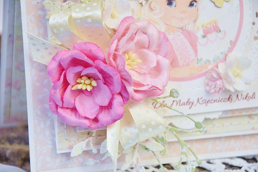 Kartka na roczek dla księżniczki -