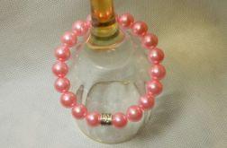 60. Bransoleta z pereł szklanych 10mm