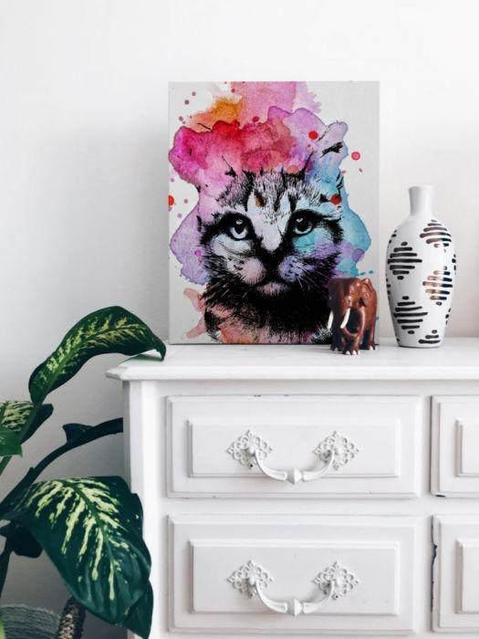 PLAKAT KOT grafika dekoracja mieszkania