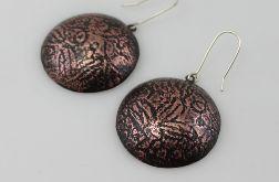 Liście - miedziane kolczyki 180517-03