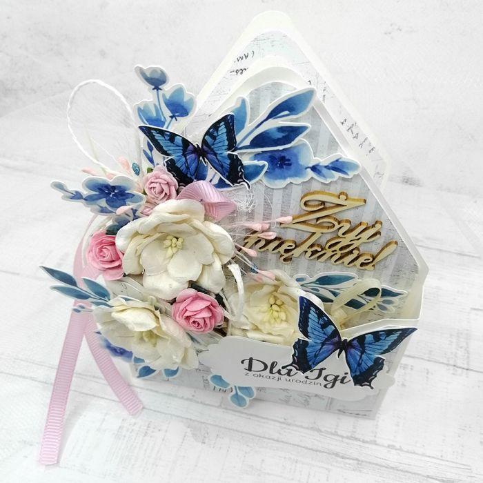 Nietypowa kwiecista dla kobiety PDK 017 - Nietypowa kwiecista kartka dla kobiety flower box (2)