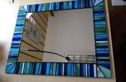 Lustro witrażowe Tiffany mozaika turkusowe