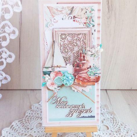 Kartka urodzinowa DL Suntastic 1 GOTOWA