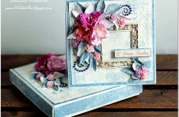 Mediowa Kartka Ślubna w pudełku