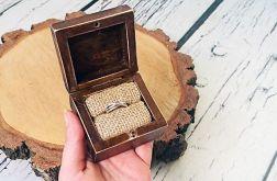 Postarzane pudełko na pierścionek