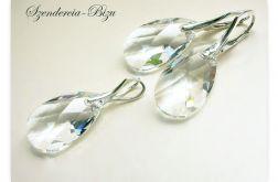 Komplet Swarovski Migdał 22mm Crystal