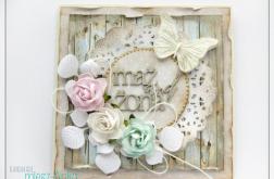 Romantyczna kartka na Ślub z motylkiem